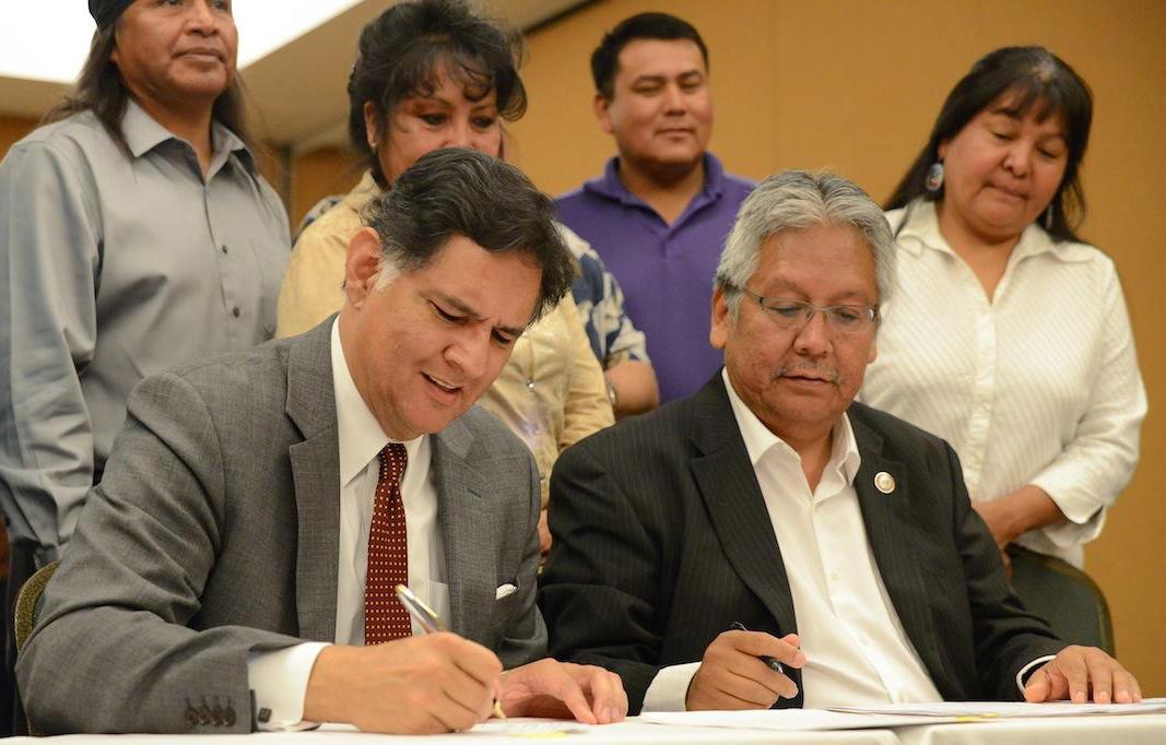 San Carlos Apache and ASU signing ceremony